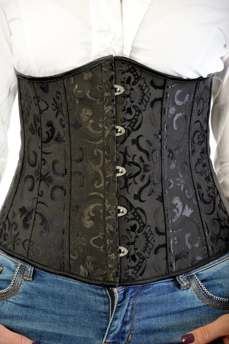 corset noir femme