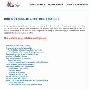 Exemple d'un architecte à Rennes